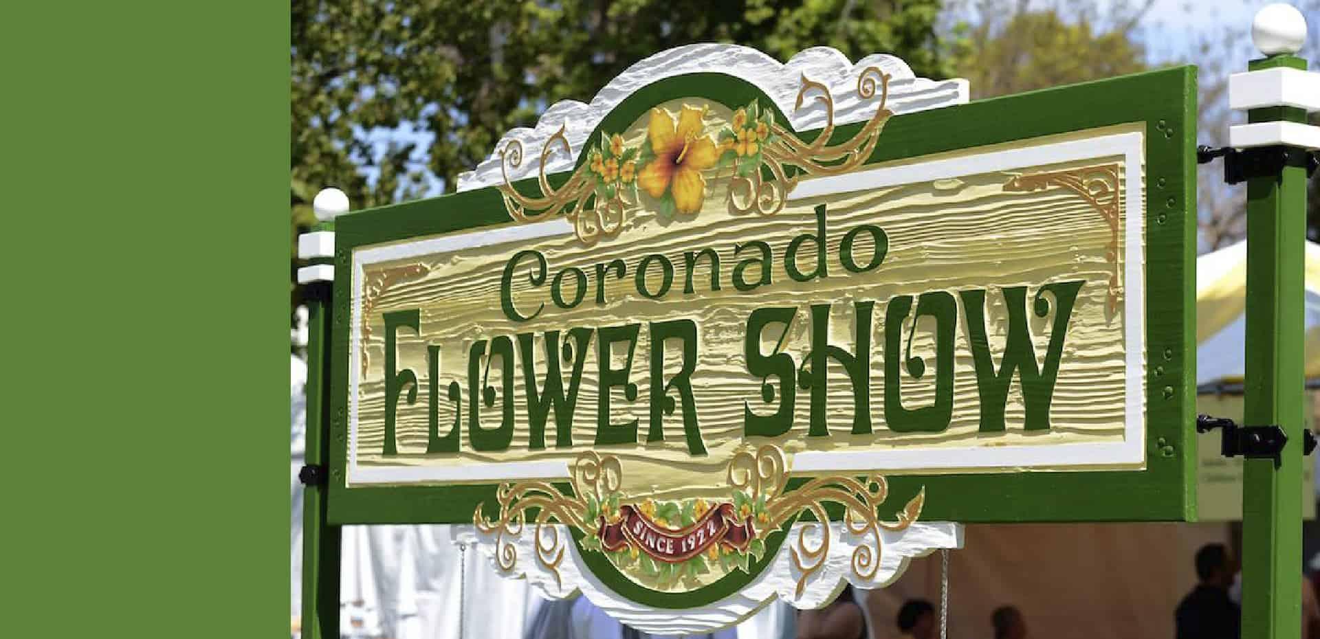 Coronado Flower Show Sign